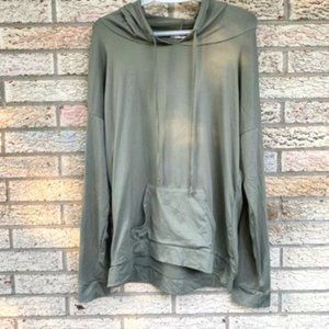 Ardene olive green super soft hoodie top large